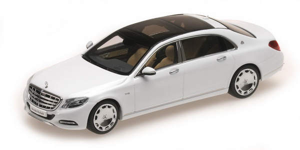 Модель 1:43 Mercedes-Benz S-Class S 600 Maybach V12 Biturbo - diamond white (L.E.1506pcs)
