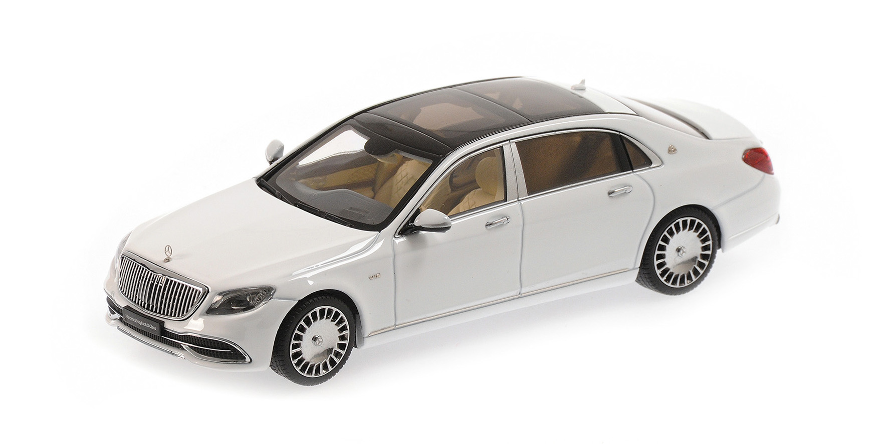 Модель 1:43 Mercedes-Maybach S 650 (W222) рестайлинг - diamond white (L.E.504pcs)