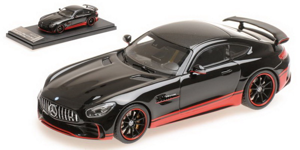 Модель 1:43 Mercedes GT-R AMG V8 Biturbo - black/red