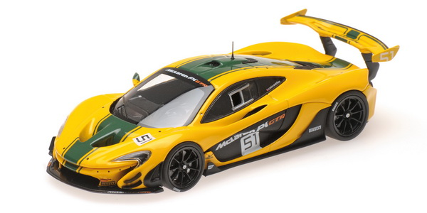 Модель 1:43 McLaren P1 GTR №51 - yellow/green