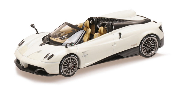 Модель 1:43 Pagani Huayra Roadster - white/black