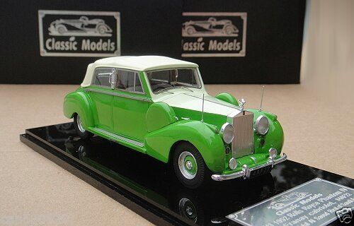 Модель 1:43 Rolls-Royce Phantom IV Franay Cabrio Ch.№4AF22 (close) Prince Talal Al Saoud Ryal of Saudi Arabia - green/cream