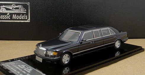 Модель 1:43 Mercedes-Benz 560 SEL 4-door Stretch Limousine - deep pearl blue
