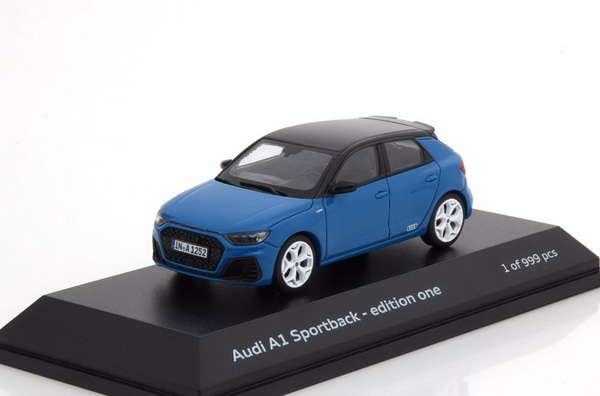 Модель 1:43 Audi A1 Sportback editione one 2018 - blue/black