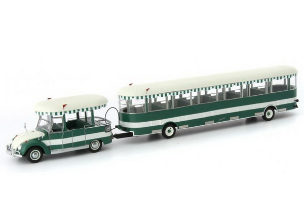 Модель 1:43 Volkswagen Käfer «Wolfburger Bähnle» (Germany) -green/white (L.E.333pcs)