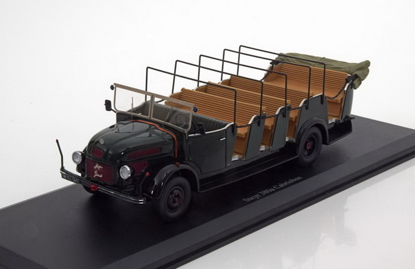 Модель 1:43 Steyr 380a Cabrio Bus Polizei - dark green