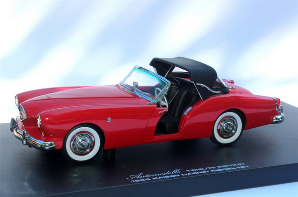 Модель 1:24 Kaiser Darrin Model 161 Cabriolet Tribute Edition - Red Sail 1934