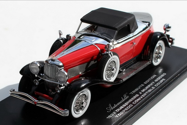 Модель 1:43 Duesenberg J Murphy-bodied Torpedo Convertible Coupe Tribute Edition - red