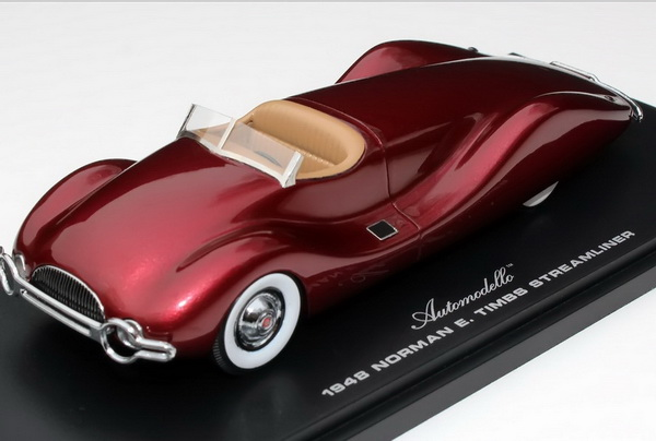 Модель 1:43 Norman E. Timbs Streamliner (engine of Buick Super 8) - maroon met (L.E.999pcs)