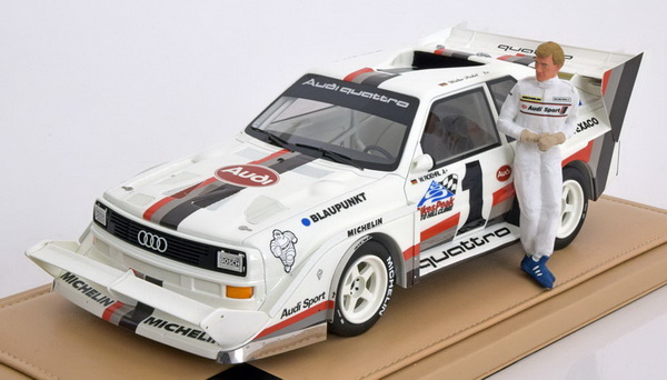 Модель 1:18 Audi Quattro S1 Winner Pikes Peak (Set with R?hrl figurine)