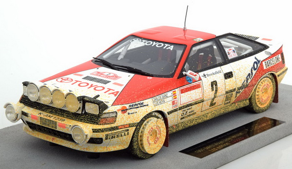 Модель 1:18 Toyota ST 165 Winner Rally Monte Carlo 1991 Sainz/Moya (dirt look)