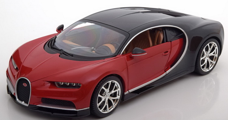 Модель 1:18 Bugatti Chiron - red/black