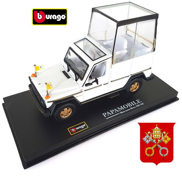 Модель 1:43 Mercedes-Benz G-Class GE230 Closed PapaMobile Of Pope Giovanni Paolo II - white