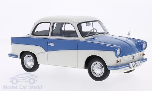 Модель 1:18 Trabant P50 - blue/white