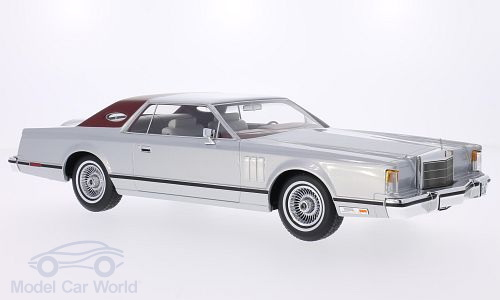 Модель 1:18 Lincoln Continental Mk. V Coupe - silver mat/dark red