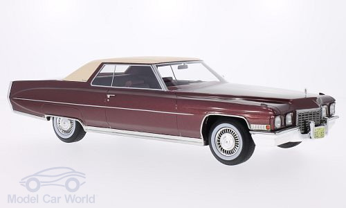 Модель 1:18 Cadillac Coupe de Ville - dark red/beige