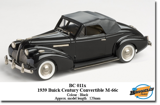 Модель 1:43 Buick Century Convertible M-66c - black - Factory Special Model