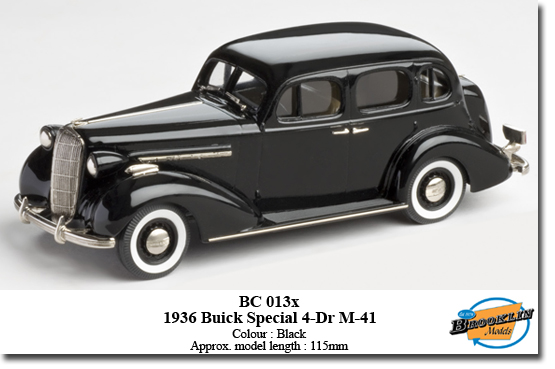 Модель 1:43 Buick Special 4-door TRUNK Sedan M-41 - BLACK - FACTORY SPECIAL MODEL