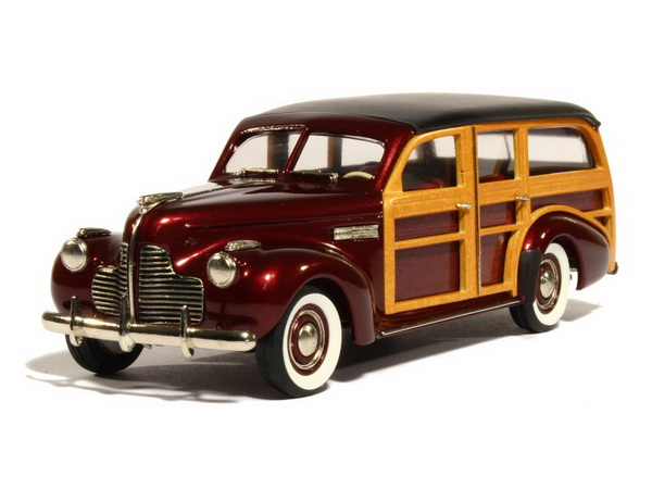 Модель 1:43 Buick Super M-59 Estate Wagon - dark maroon poly
