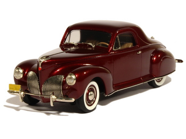 Модель 1:43 Lincoln Zephyr 3-PASSENGER Coupe - burgundy red