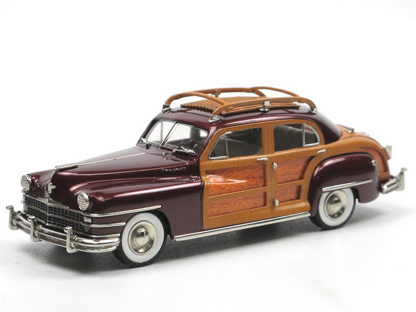 Модель 1:43 Chrysler Town & Country 4-doors Sedan - maroon/woody
