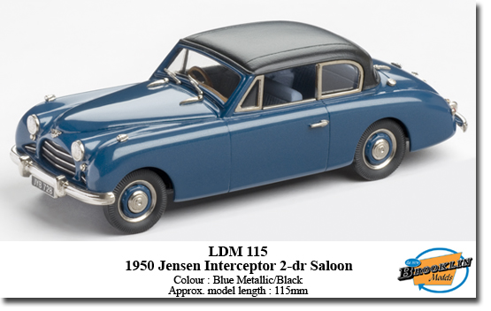 Модель 1:43 Jensen Interceptor 2-door Saloon - blue met/black