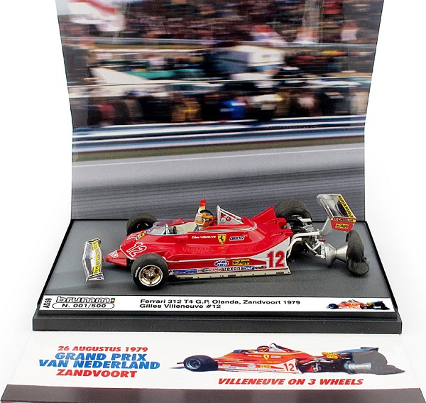 Модель 1:43 Ferrari 312 T4 №12 GP Holland Crash Version (Gilles Villeneuve)