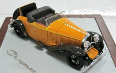 Модель 1:43 Bugatti Cabrio De Villars Ch.№46360 open top & dickey - orange