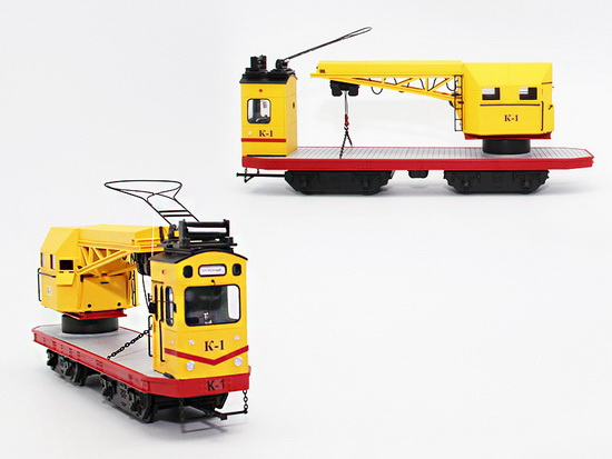 Модель 1:43 Трамвай-кран К-1 Путиловского завода (серия 50 экз. для Moscow Tram Collection)