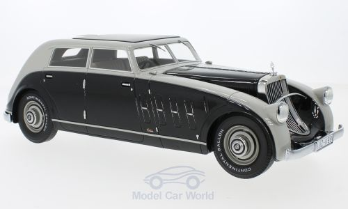 Модель 1:18 Maybach Zeppelin DS8 Stromlinie (Spohn Ravensburg) - black/grey (L.E.300pcs)