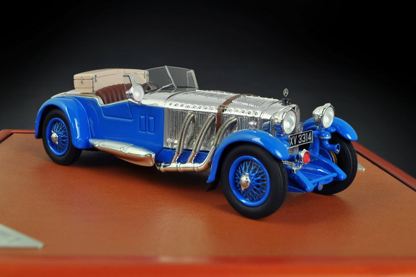 Модель 1:43 Mercedes-Benz 680 S Barker Tourer - blue/chrome (L.E.300pcs)