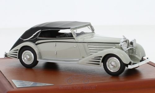 Модель 1:43 Maybach Zeppelin DS8 Stromlinien-Cabrio Spohn - light grey/black (L.E.300pcs)