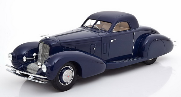 Модель 1:18 Duesenberg J Walker Aerodynamic Coupe - dark blue