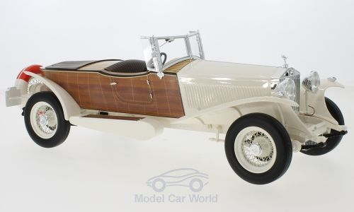 Модель 1:18 Rolls-Royce Phantom II Boat Tail Tourer (RHD) - white/wood (L.E.300pcs)