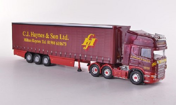 Модель 1:50 Scania R Curtainside, C.J.Haynes & Son Ltd - Milton Keynesl