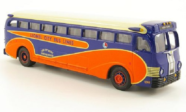 Модель 1:50 Yellow Coach 743, Linel Bus Lines, blauYellow Coach 743, Linel Bus Lines, blau