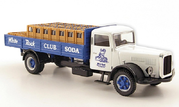 Модель 1:50 White Pritschen-LKW, White Rock Club Soda