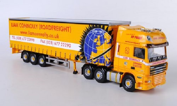 Модель 1:50 DAF XF 105 SSC, Liam Connolly Roadfreight, Gardinenplanen-SZ
