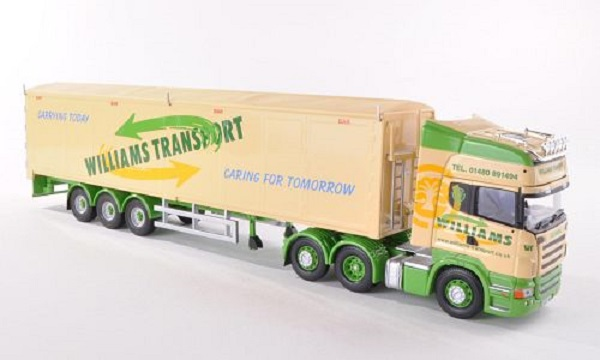 Модель 1:50 Scania R (Rear Tag) Williams Transport, Huntingdon, Moving Floor Trailer