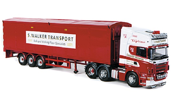 Модель 1:50 Scania R TL, S. Walker Transport, Schubboden-SZ