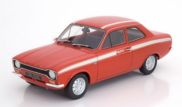 Модель 1:18 Ford Escort MK1 Mexico 1973 - red/white