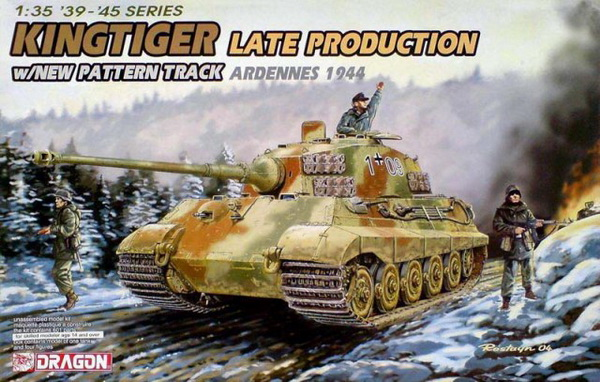 Модель 1:35 Kingtiger Late Production w/New Pattern Track (Ardennes 1944)