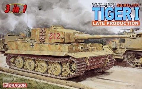 Модель 1:35 Танк Sd.Kfz. 181 Tiger 1 Late Production (3 in 1)