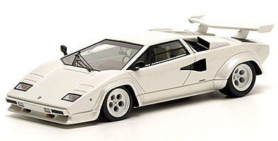 Модель 1:43 Lamborghini Countach LP 400S (with wing) Make-Up 30th Anniversary edition - pearl white
