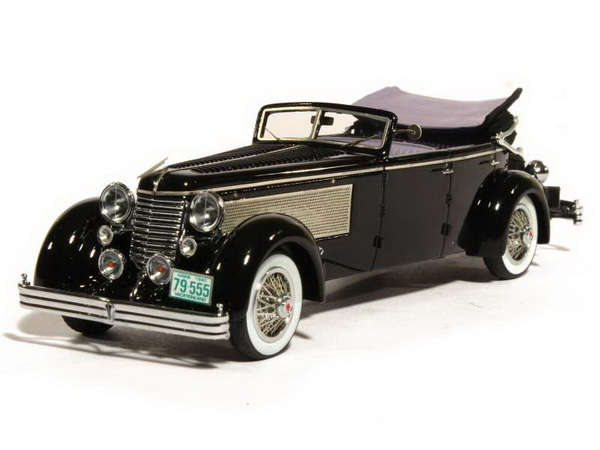 Модель 1:43 Duesenberg SJ Town Car Convertible Closed Ch.№2405 by Rollson - Personal Car RUDOLF BAUER (fully open)