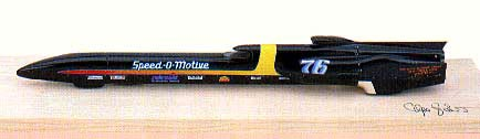 Модель 1:43 Speed-O-MOTIV 1991 WHEEL-DRIVEN LAND Speed RECORD A.TEAGUE