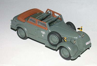 Модель 1:43 Alfa Romeo 6C 2500 COLONIALE II Series Cabrio Open - Afrika Korps - Rommel`s Command Car - WITH FIGURES