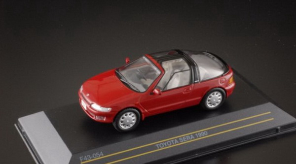 Модель 1:43 Toyota Sera - dark red RHD 1990