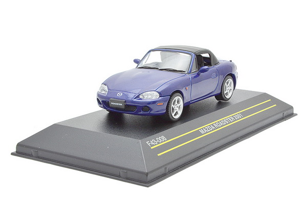 Модель 1:43 Mazda Roadster SOFT-TOP CLOSED - Blue