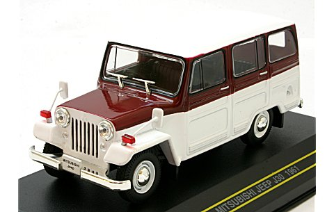 Модель 1:43 Mitsubishi Jeep J30 - red/white
